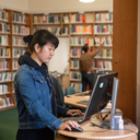 Student in the Bodleian Library